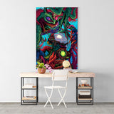 Psychedelic Canvas Wall Art 02 - Cosmic Monster