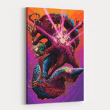 Psychedelic Canvas Wall Art 03 - Cosmic Monster Shark - Perspective
