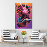 Psychedelic Canvas Wall Art 03 - Cosmic Monster Shark