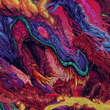 Psychedelic Canvas Wall Art 05 - Cosmic Monster Dragon Abstract Canvas