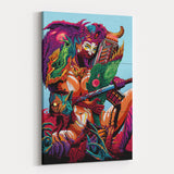 Psychedelic Canvas Wall Art 06 - Cosmic Monster Samurai