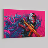 Psychedelic Canvas Wall Art 08 - Cosmic Monster Warrior