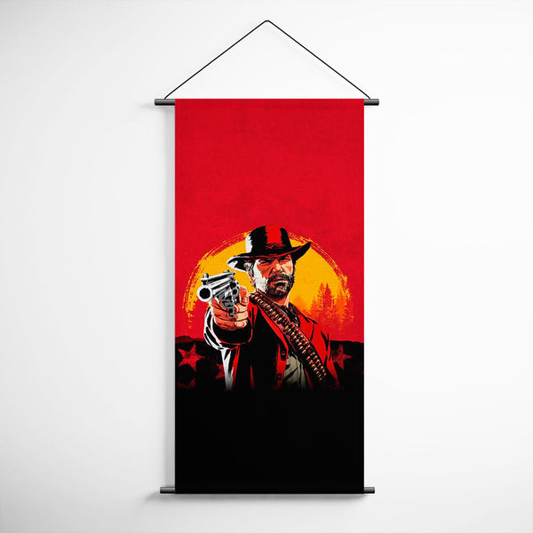 Red Dead Redemption 2 Arthur Morgan Banner Flag for Gamers BFRDR012