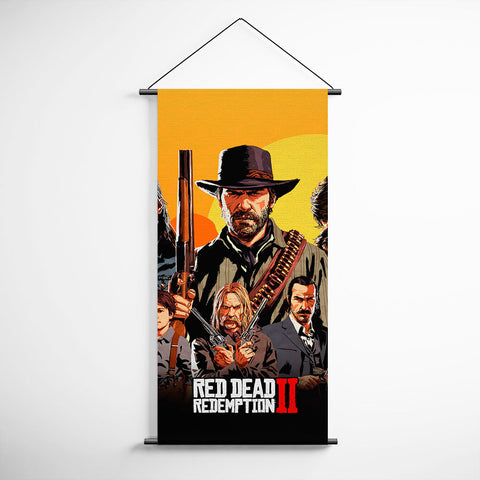 Red Dead Redemption 2 Decorative Banner Flag for Gamers BFRDR006