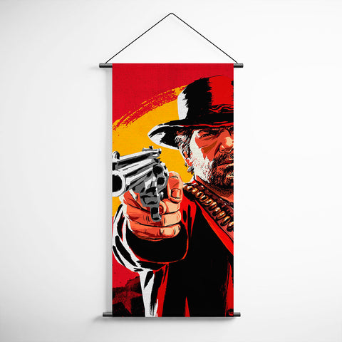 Red Dead Redemption 2 Arthur Morgan Banner Decorative Flag for Gamers BFRDR010