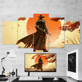 Red Steel 2 Shooter 5 Piece Red Steel Canvas Wall Art Gaming Canvas 5PCRS001