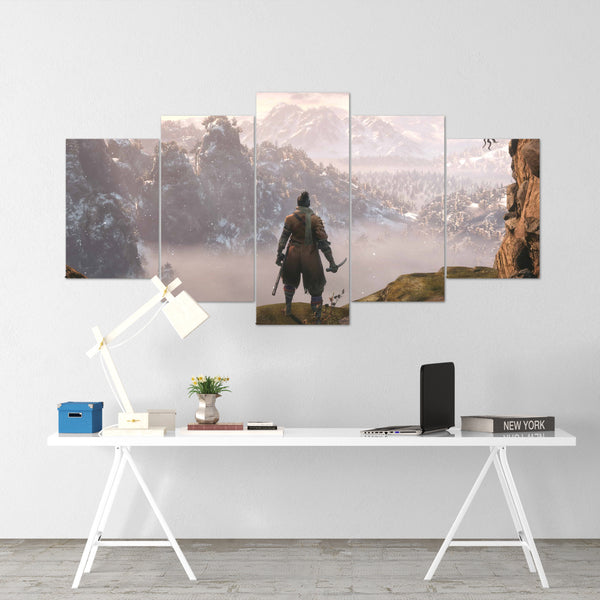 Sekiro 01 - 5 Piece Canvas Wall Art Gaming Canvas