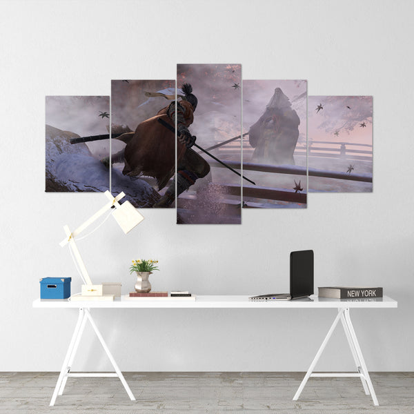 Sekiro 04 - 5 Piece Canvas Wall Art Gaming Canvas