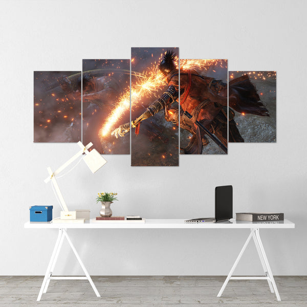 Sekiro 07 - 5 Piece Canvas Wall Art Gaming Canvas