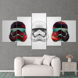 Star Wars 01 Stormtrooper 5 Piece Canvas Wall Art Gaming Canvas