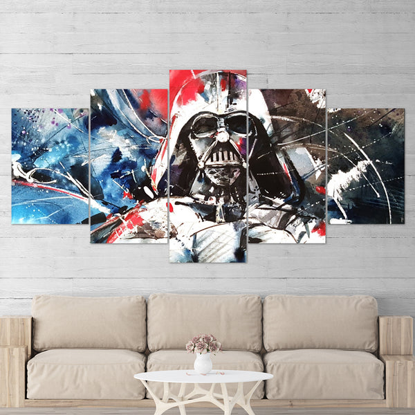 Star Wars 02 Darth Vader 5 Piece Canvas Wall Art Gaming Canvas