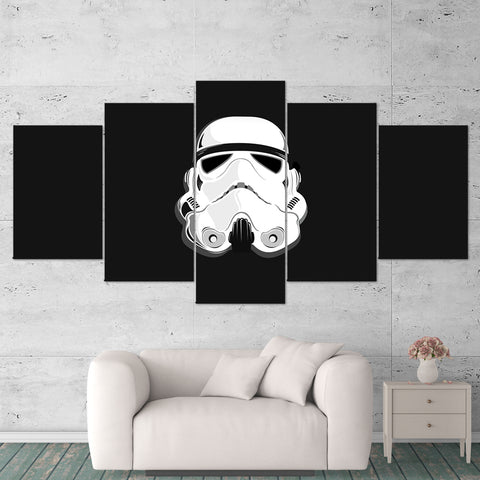 Star Wars 03 Stormtrooper 5 Piece Canvas Wall Art Gaming Canvas