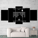 Star Wars 06 Retro Game Black White 5 Piece Canvas Wall Art Gaming Canvas
