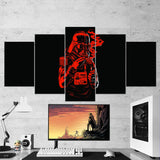 Star Wars 10 General Darth Vader 5 Piece Canvas Wall Art Gaming Room Canvas