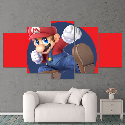 Super Mario 11 Super Smash 5 Piece Canvas Wall Art Gaming Canvas