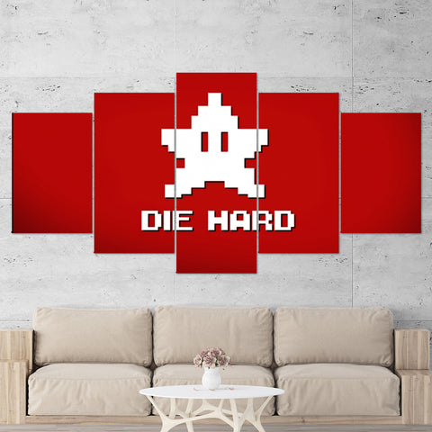 Super Mario 12 Die Hard 5 Piece Canvas Wall Art Gaming Canvas