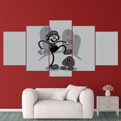 Super Mario 13 - 5 Piece Canvas Wall Art Gaming Canvas