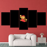Super Mario 14 8bit Mario 5 Piece Canvas Wall Art Gaming Canvas