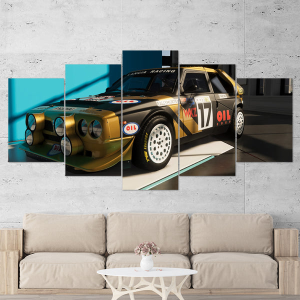 The Crew 2 Lancia Delta S4 Rally Car 5 Piece Canvas Wall Art Gaming Canvas 5PCTCW004