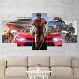 The Crew 2 Sports Car - Powerboat - Motorcycle 5 Piece Canvas Wall Art Gaming Canvas 5PCTCW001