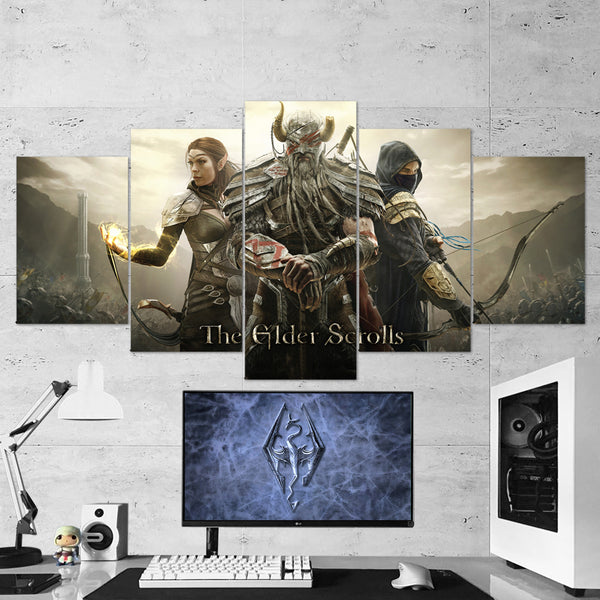 The Elder Scrolls 01 Online 5 Piece Canvas Wall Art Gaming Canvas