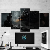 The Elder Scrolls 13 - 5 Piece Canvas Wall Art Gaming Canvas