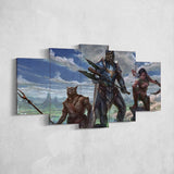 The Elders Scrolls 24 Online Characters 5 Piece Canvas Wall Art Gaming Canvas