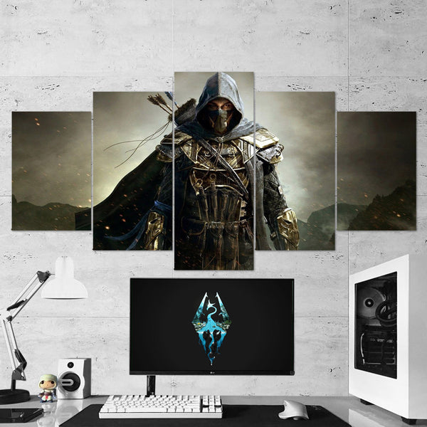 The Elders Scrolls 27 - 5 Piece Canvas Wall Art Gaming Canvas