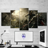 The Elders Scrolls 28 - 5 Piece Canvas Wall Art Gaming Canvas