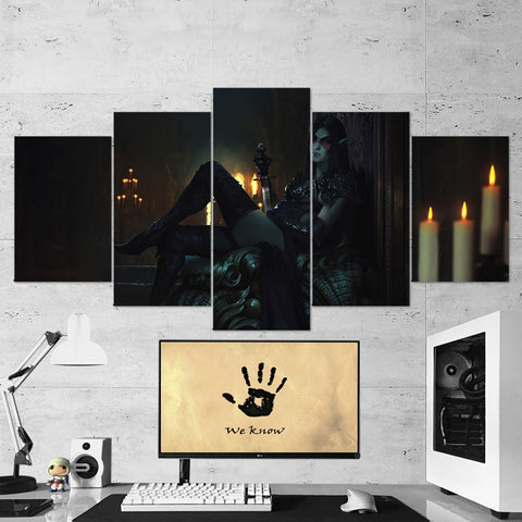 The Elders Scrolls 29 - 5 Piece Canvas Wall Art Gaming Canvas