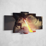 The Elders Scrolls 30 - 5 Piece Canvas Wall Art Gaming Canvas