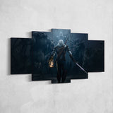 The Witcher 02 - 5 Piece Canvas Wall Art Gaming Canvas