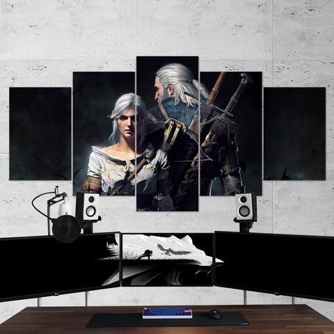 The Witcher 04 - 5 Piece Canvas Wall Art Gaming Canvas