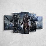 The Witcher 05 - 5 Piece Canvas Wall Art Gaming Canvas