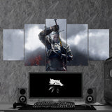 The Witcher 06 - 5 Piece Canvas Wall Art Gaming Canvas