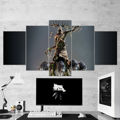 The Witcher 07 - 5 Piece Canvas Wall Art Gaming Canvas