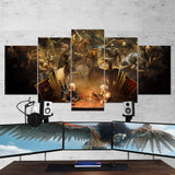 The Witcher 08 - 5 Piece Canvas Wall Art Gaming Canvas