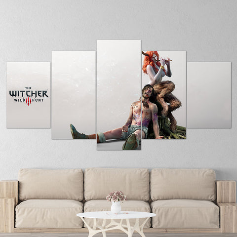 The Witcher 09 - 5 Piece Canvas Wall Art Gaming Canvas