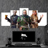 The Witcher 10 - 5 Piece Canvas Wall Art Gaming Canvas