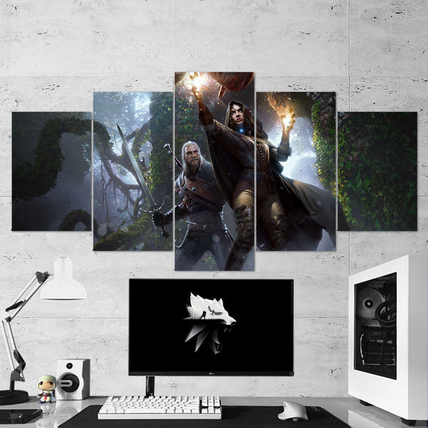 The Witcher 11 - 5 Piece Canvas Wall Art Gaming Canvas