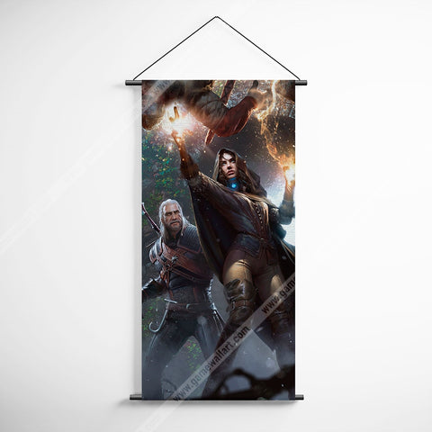 The Witcher 11 The Witcher 3 Wild Hunt Yennefer And Geralt Decorative Banner Flag for Gamers