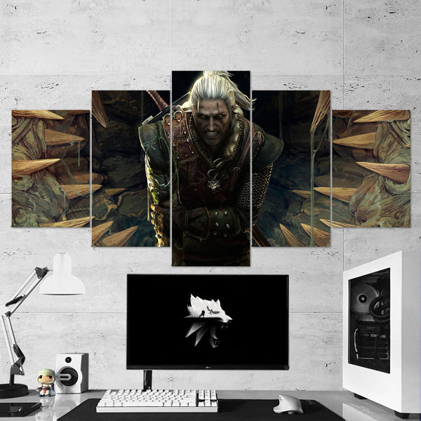 The Witcher 13 - 5 Piece Canvas Wall Art Gaming Canvas