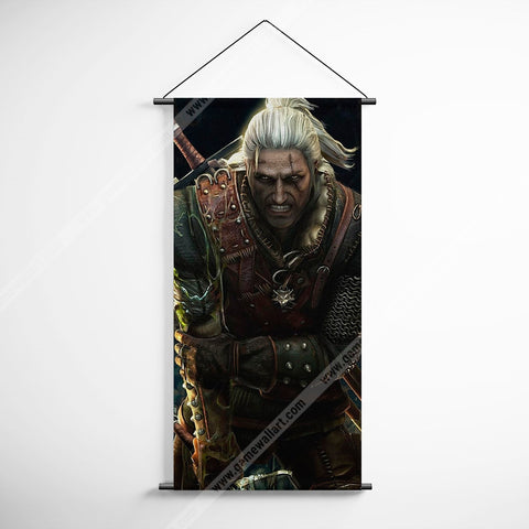 The Witcher 13 Geralt Art Work Decorative Banner Flag for Gamers