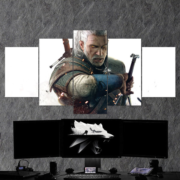 The Witcher 14 - 5 Piece Canvas Wall Art Gaming Canvas