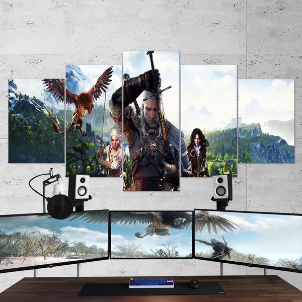 The Witcher 16 - 5 Piece Canvas Wall Art Gaming Canvas