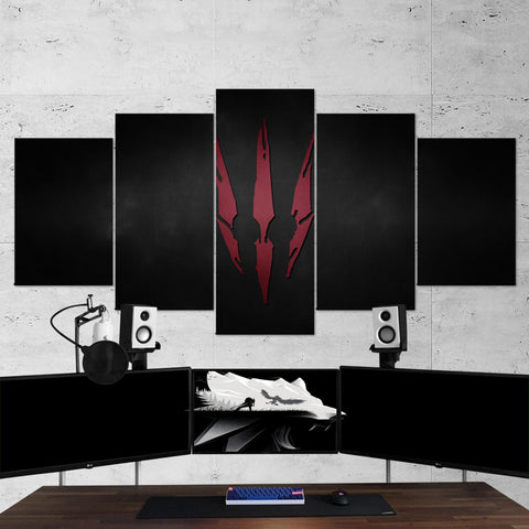 The Witcher 18 - 5 Piece Canvas Wall Art Gaming Canvas