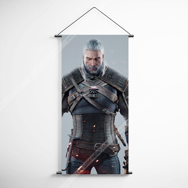 The Witcher 21 Geralt Decorative Banner Flag for Gamers