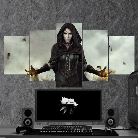 The Witcher 24 - 5 Piece Canvas Wall Art Gaming Canvas