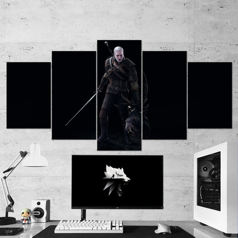 The Witcher 27 - 5 Piece Canvas Wall Art Gaming Canvas