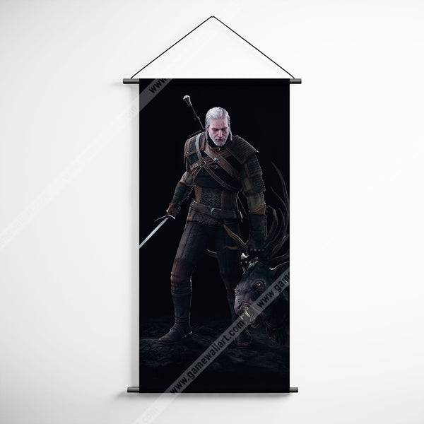 The Witcher 27 Geralt Decorative Banner Flag for Gamers